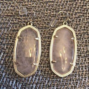 Kendra Scott Elle Gold Drop Earrings, Rose Quartz